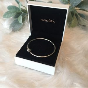 Silver Pandora Bangle Size Medium
